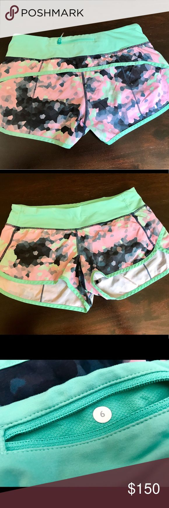 Lululemon speed short sz 6 clouded dreams EUC Lululemon speed short sz 6 clouded dreams EUC.  No rips , tears , stains , peeling or issues .  Just rotating my stock . lululemon athletica Shorts