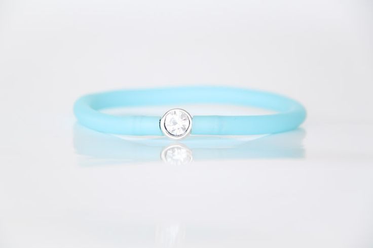 Diamante Bracelet with Blue Tube Strap - Teelee - A Bits & Bobs Brand