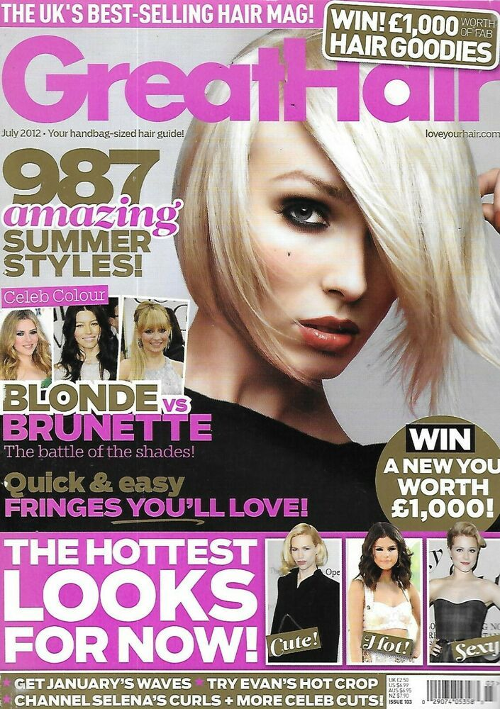 Great Hair Magazine Summer Hairstyles Blonde Vs Brunette January Waves 2012 In 2020 Hair Magazine Summer Hairstyles Great Hair