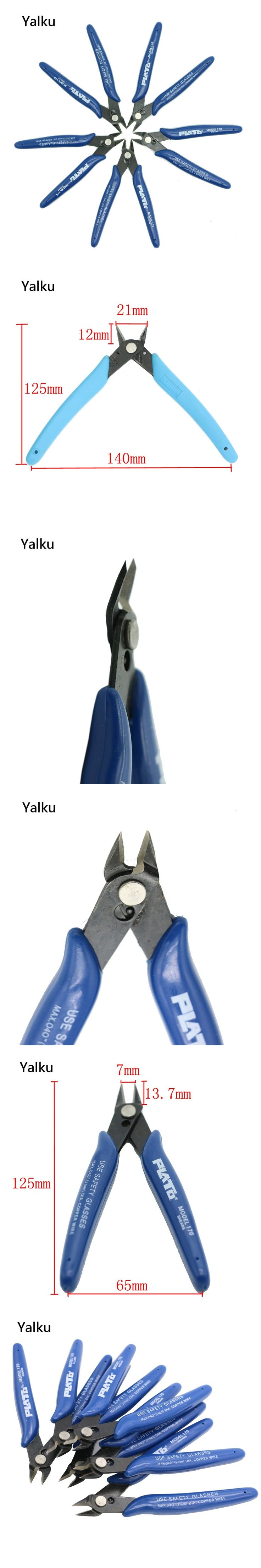 Yalku Pliers Hand Tools Plier Tool Electrical Wire Cable Cutters Cutting Side Pliers Wire Cable Cutters Stainless Steel Tool