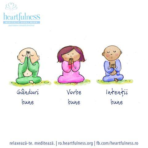 Gânduri bune, vorbe bune, intenții bune. #heartfulness   #cunoaste_cu_inima   #hfnro