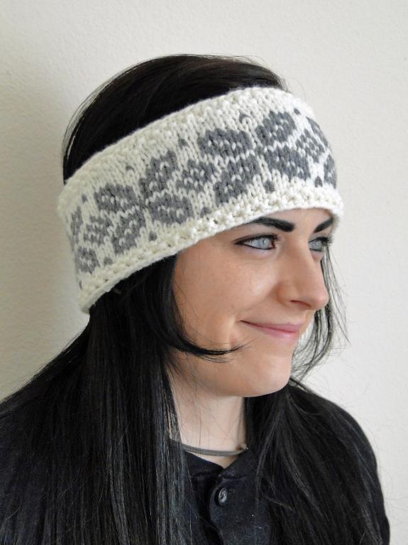 Looking for your next project? You're going to love Knit Fair Isle Cream Headband by designer Karen's Stitch Nitch.