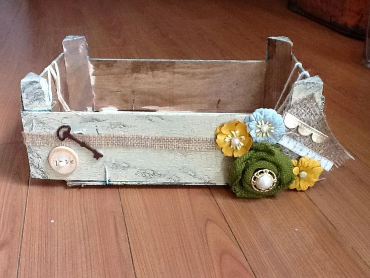 Upcycled clementine box