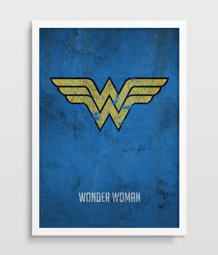 Wonder Woman Poster Superheroes Superhero by TheWatermelonFactory
