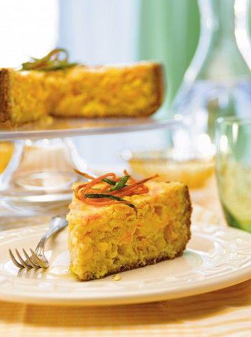 Tarta integral de choclo y zanahoria