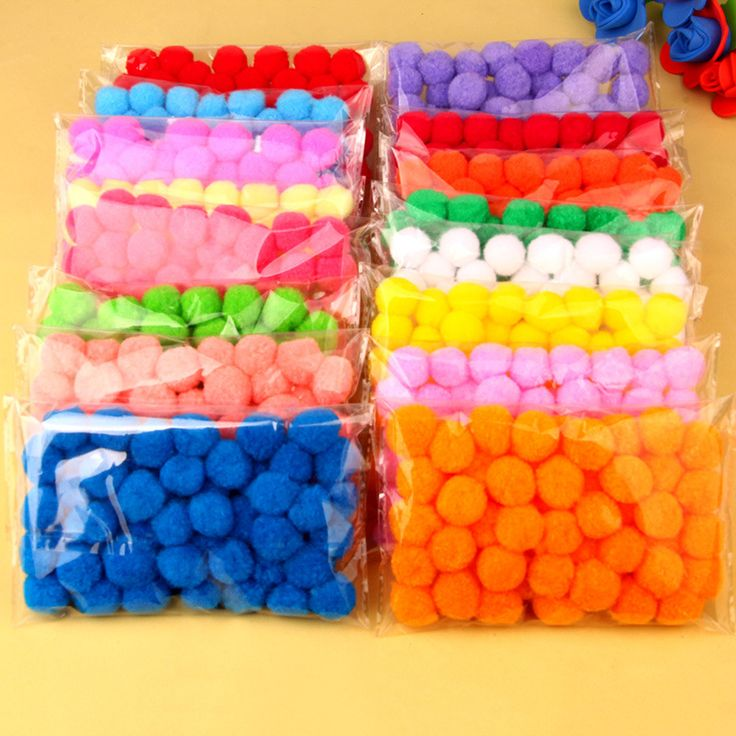 Skillful Trade Ponpon 20mm Multicolor Pompom DIY Decoration Ball Pompon Children's manual educational Toys Accessories 50PCS/Bag