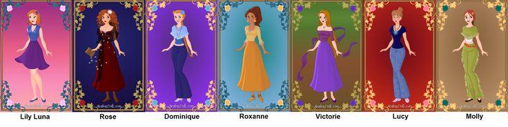 Hogwarts girls (Third/ Next/ generation of Harry Potter) by Azalea dolls dress up game