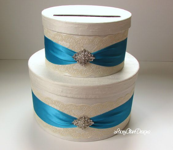 Lace Wedding Card Box  Couture Card Holder by LaceyClaireDesigns, Perfect for Wedding, Quinceanera, Sweet 16, Bridal Shower Card Box