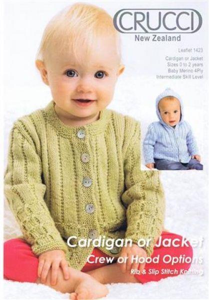 Crucci Cardigan Or Jacket Crew Or Hood Options Leaflet 1423
