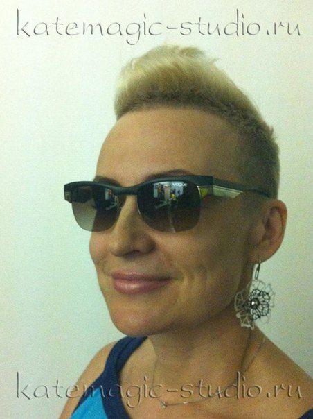 Креативная стрижка, креатив, блонд, осветление волос, окрашивание волос, узор, идея прически. Студия KateMagic. Москва, м. Борисово.  Телефон для записи: (495) 340 01 00  http://vk.com/katemagicstudio