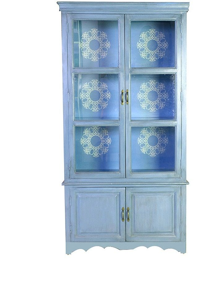Have a look at this beautiful reader book case in blue colour by hometown