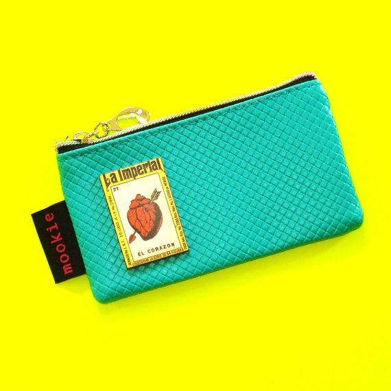 Vintage Matchbook Pouch https://www.etsy.com/ca/listing/293377781/el-corazon-loteria-card-mint-turquoise