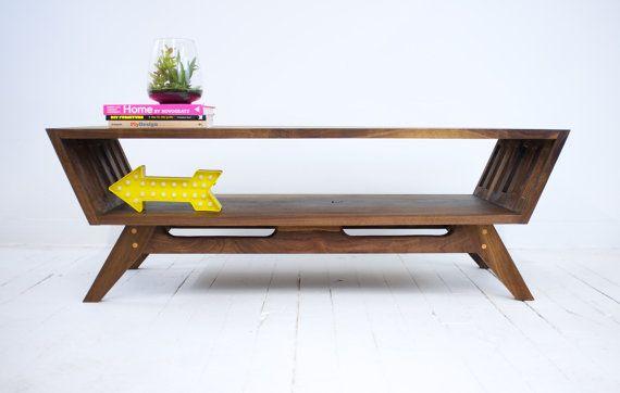Midcentury Modern Walnut Coffee Table Modern di moderncre8ve