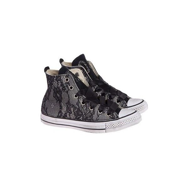 CONVERSE LIMITED EDITION Fabric Sneakers ($209) ❤ liked on Polyvore featuring shoes, sneakers, black, black shoes, black sneakers, converse trainers, converse shoes and converse sneakers