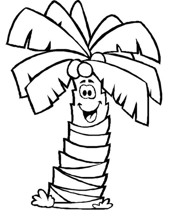 Palm Tree Coloring Pages For Kids Free Coloring Sheets Tree Coloring Page Leaf Coloring Page Palm Tree Clip Art