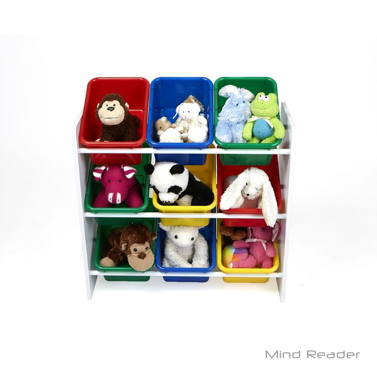 Mindreader Mind Reader 3 Tier Storage Bin Toy Organizer, White