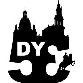 DY Dresden 1953 Silhouette - SG Dynamo Dresden der Kult Fussballverein des Ostens und in Sachsen. Das Gr�ndungsjahr 1953 und die Silhouette der Stadt an der Elbe auf dein Shirt.