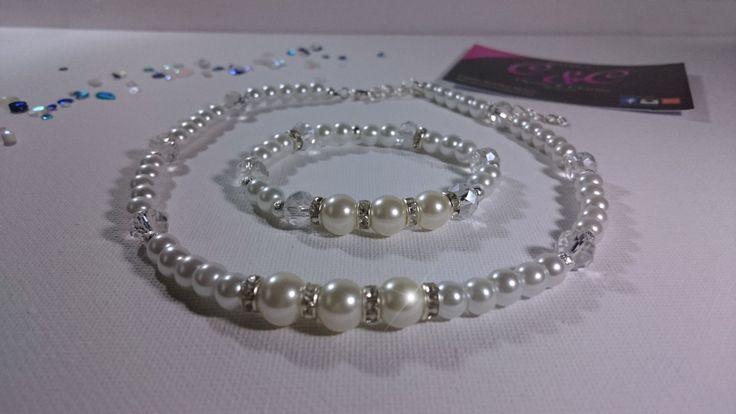 Wedding Jewellery Set, Bridal Jewellery, elegant jewellery, faux pearl jewellery set, wedding jewellery, Wedding matching items by DaisysChains01 on Etsy