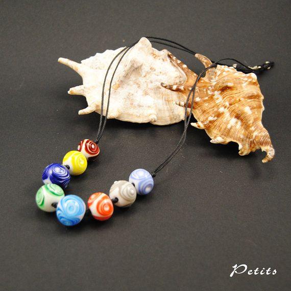 Candy: collana con perle in vetro di murano di LampworkAndMore