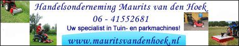 Banner veranderd voor Handelsonderneming Maurits van den Hoek.  Handelsonderneming Maurits van den Hoek is gespecialiseerd in in- en verkoop van tuin- en parkmachines en aanverwante artikelen. Tevens verrichten ze reparaties, onderhoud en revisie in hun eigen werkplaats. http://koopplein.nl/middendrenthe/gebruikers/91713/handelsonderneming-maurits-van-den-hoek