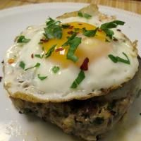 Spanish burgers with egg. Oh yeah.