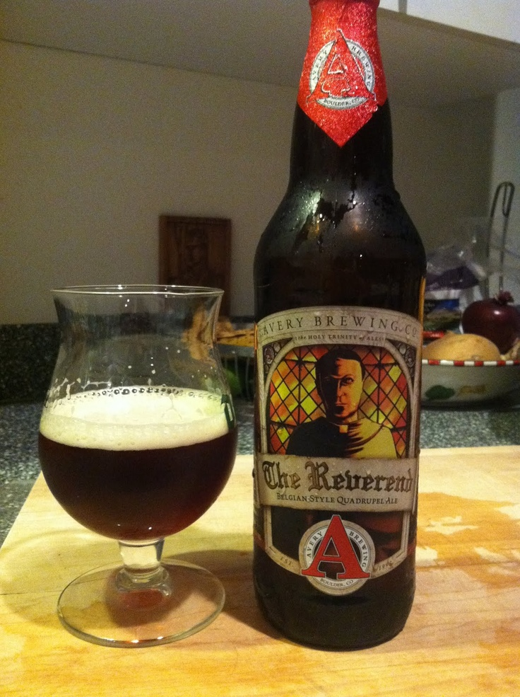 The Reverend Quad - Avery Brewery. Easily my favorite beer.