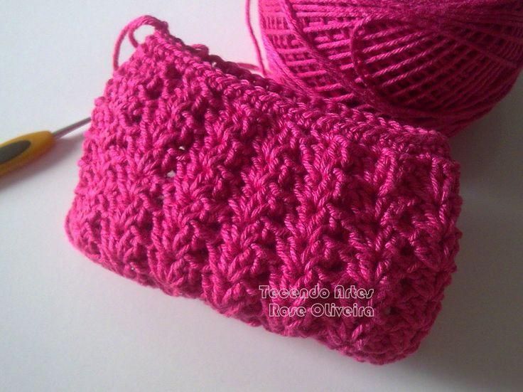 Tecendo Artes em Crochet: Bolsinha Muito Fofa em Andamento!