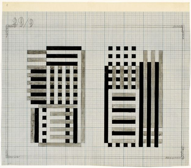 "Josef Albers, Study for Glass Construction ""Bowers"", 1929, The Josef and Anni Albers Foundation"