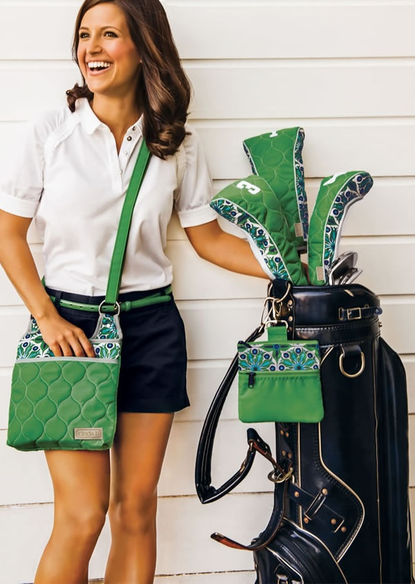 golf head covers, tee pouch and hipster by cinda b