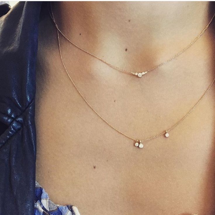 Collier en or rose diamants myrtille beck, 890€