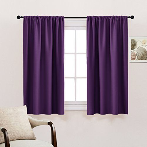 kitchen Blackout Curtains Home Decoration - Light Block Curtains & Draperies Window Coverings Short with Rod Pocket for Bedroom by PONY DANCE, 42-inch by 45-inch, Royal Purple, 2 Panels #kitchen #Blackout #Curtains #Home #Decoration #Light #Block #Draperies #Window #Coverings #Short #with #Pocket #Bedroom #PONY #DANCE, #inch #inch, #Royal #Purple, #Panels