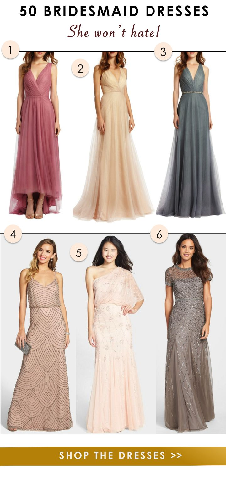382 best bridal party images on pinterest lady marriage and 50 bridesmaid dresses she wont hate ombrellifo Images