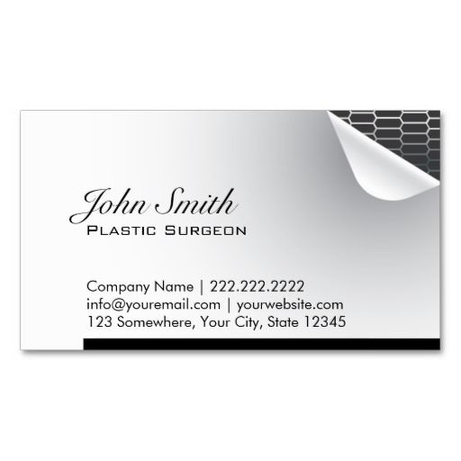 185 best Plastic Surgeon Business Cards images on Pinterest - business card template for doctors