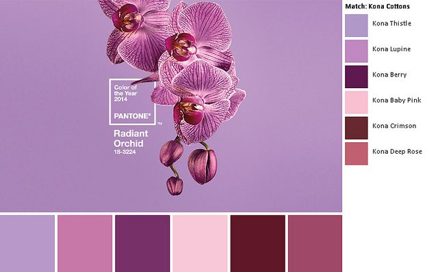 Pantone 2014 Radiant Orchid Kona palette by SewBlossomHeart, via Flickr
