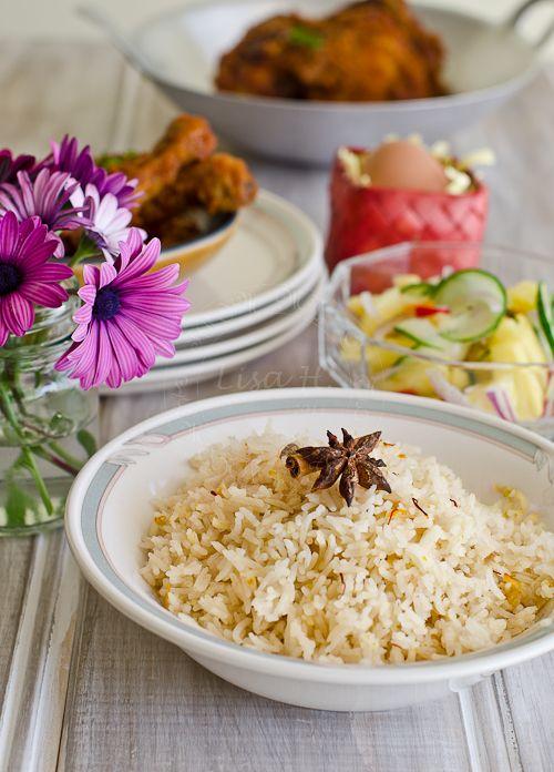 Nasi Minyak/ Savory Malaysian Rice