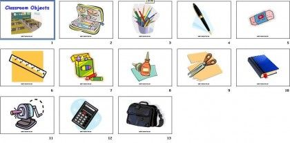 DIY Flashcards #8: Classroom Objects - Our Little Smarties