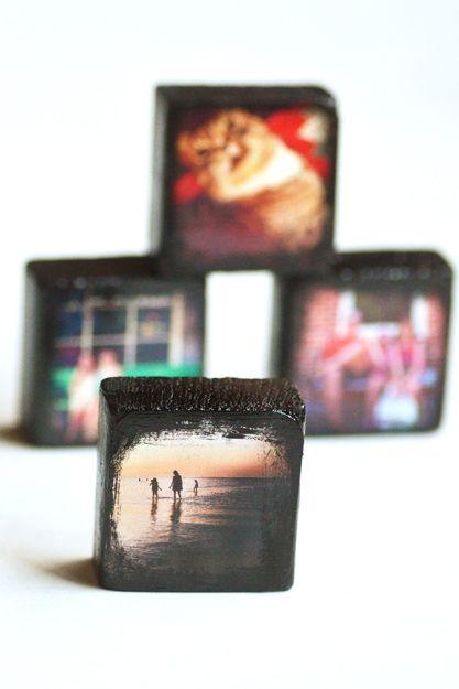 DIY Pinterest Photo Blocks Directions here: http://www.intimateweddings.com/blog/diy-instagram-photo-blocks/