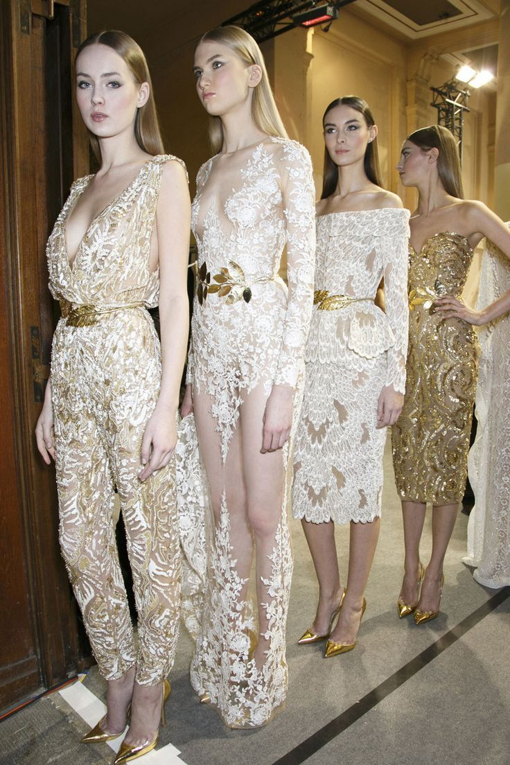 Backstage  Zuhair Murad gold  lace