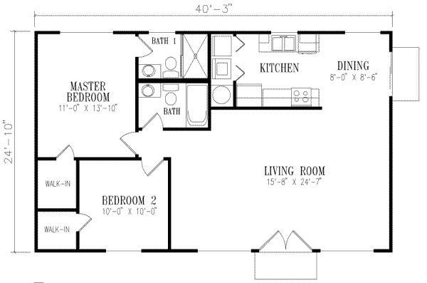 House Plans Under 1000 Sq Ft With Basement Guest House Plans Pool House Plans Small House Floor Plans