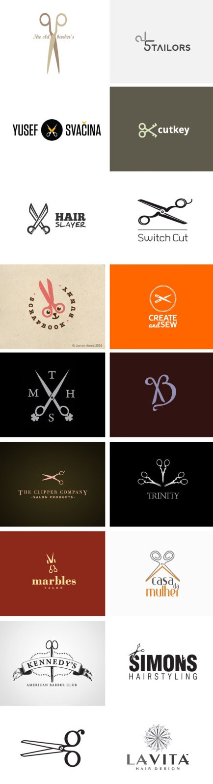 "logos with scissors // I like the ""create & sew"" one"