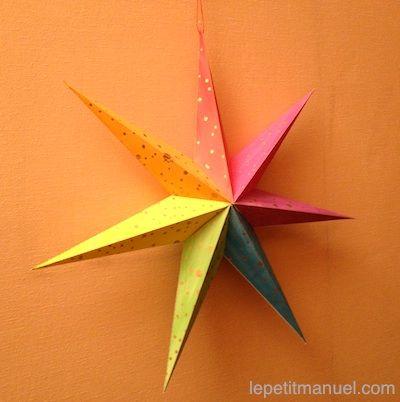 Fabriquer l'étoile de Noël. Ou : Le kit facile pour résultat grandiose.
