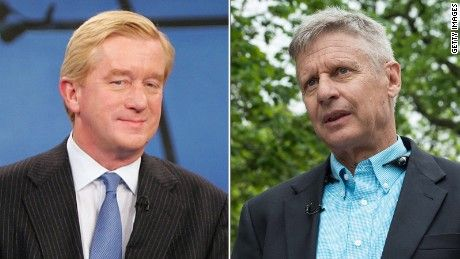 The year is 2016, and a third party is going to prime time. Libertarian presidential candidate Gary Johnson and vice presidential pick Bill Weld appear on CNN
