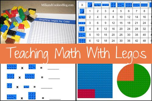 Teaching Math with Legos (multiplication, Lego multiplication chart, Lego fractions)