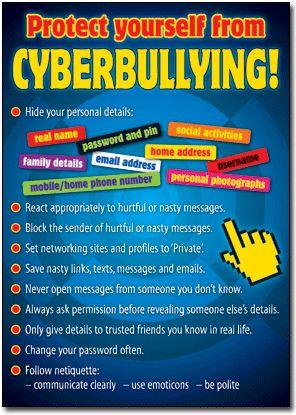 Cyber Bullying Poster #digitalcitizenship #cyberbullying