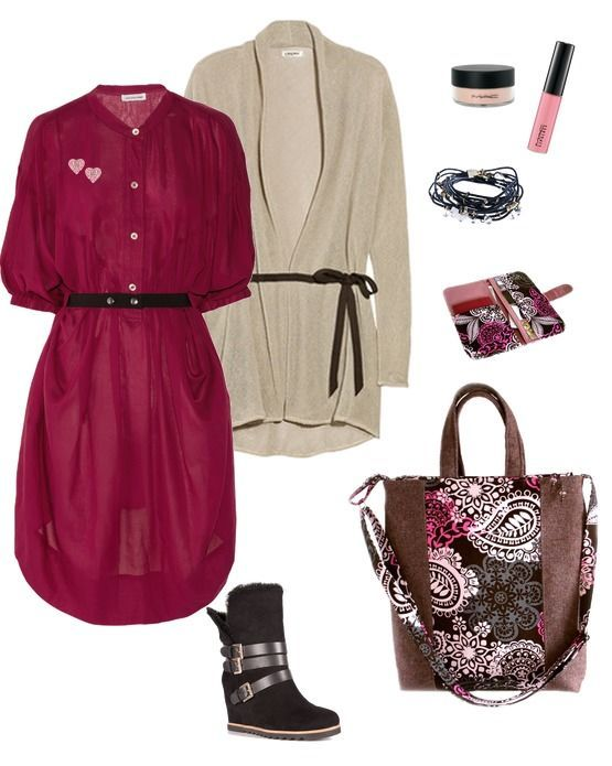 casual autumn look hand made autumn bag mandala pink and gray mix more my bag you can see here -  http://www.livemaster.ru/nickonastiya and http://vk.com/club33348489
