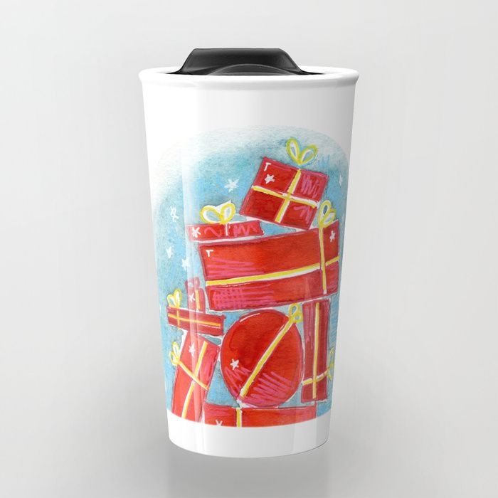 Buy stack of gift Travel Mug by emiliegeant. Worldwide shipping available at Society6.com. Just one of millions of high quality products available.