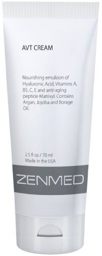 Zenmed Scars / Imperfections Treatment - AVT Cream. Skin appears visibly lifted and firmer, more flawless and refreshed with that youthful, healthy glow we all crave. Can be mixed with Step Booster Serums (coming in September 2011). This product is renowned for its creaminess and soothing, anti-aging properties. High-grade Vitamin C (Magnesium Ascorbyl Phosphate), Vitamin A, D3, and E makes this potent cream extremely hydrating while protecting it from free radical damage.