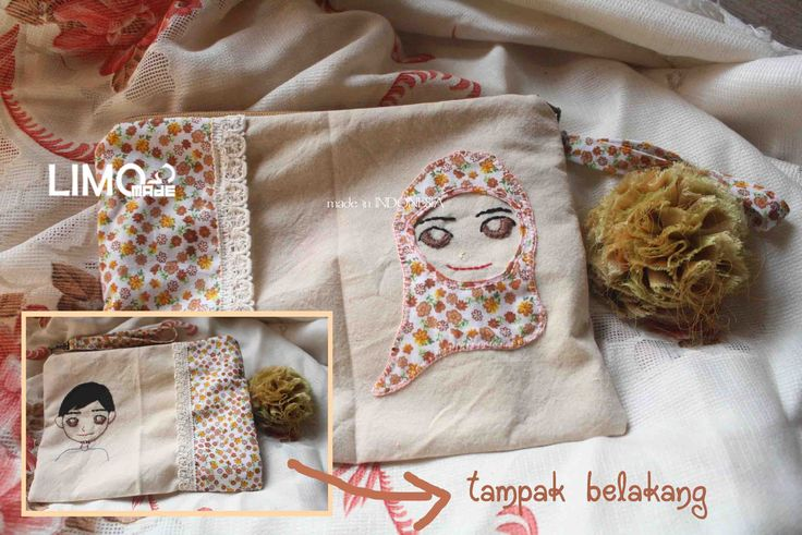 Wedding Couple | 30K | bahan : kain belacu | check this limo-made.blogspot.com #handmade #pouch #limitededition #semarang #indonesia #limomade