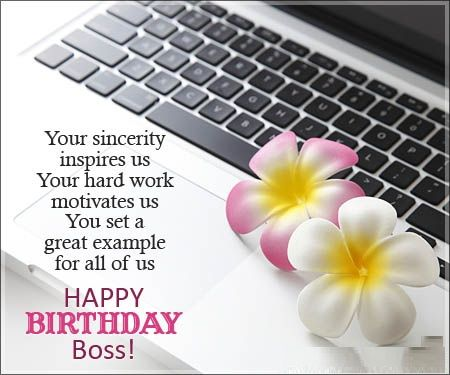 Best  Birthday Wishes For Boss Ideas On   Boss