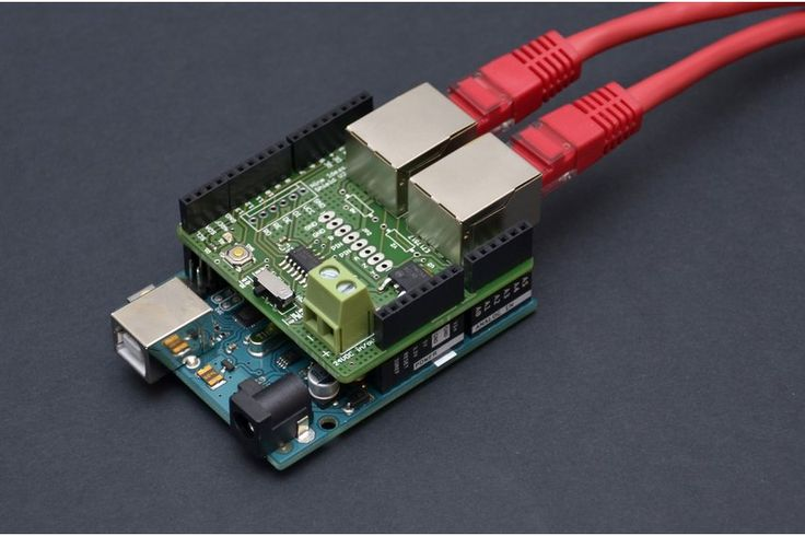 Arduino RS485 Shield (RJ45, bus-powered)